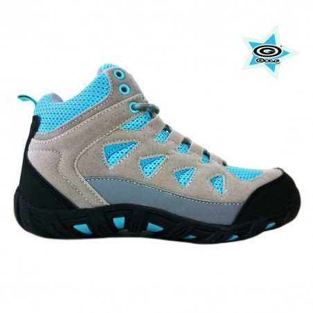 ZAPATILLA GOLF OUTDOOR DAMA GRIS/TURQUESA