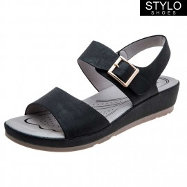 SANDALIA CASUAL STYLO SHOES NEGRA