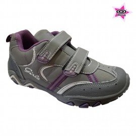 "ZAPATILLA ""GIRLS"" GRIS/LILA"