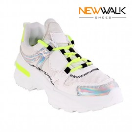 ZAPATILLA NEW WALK NEON BLANCO/LIMA