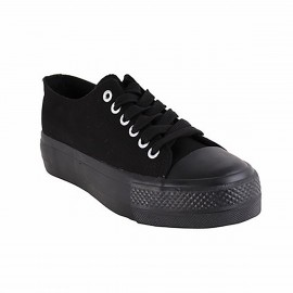 ZAPATILLA NEW WALK LONA NEGRA