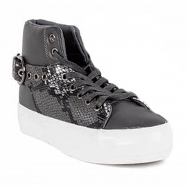 ZAPATILLA SNAKE HEBILLA NEW WALK GRIS